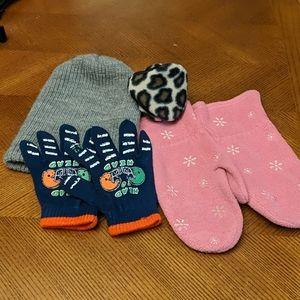 Lot of kids winter accessories- vintage